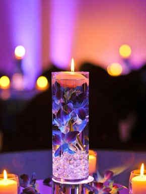 centro de mesa bodas velas