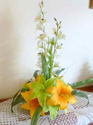 centros de mesa con flores artificiales 4