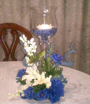 entros de mesa con flores artificiales 5