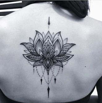 imagen flor de loto tatuaje