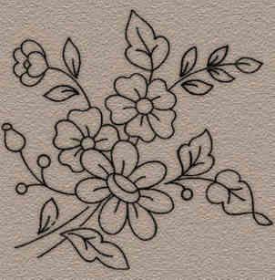 imagenes flores bordar a mano