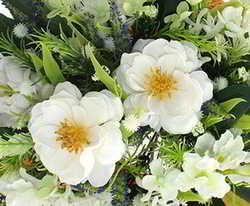 ramos silvestres de rosas blancas